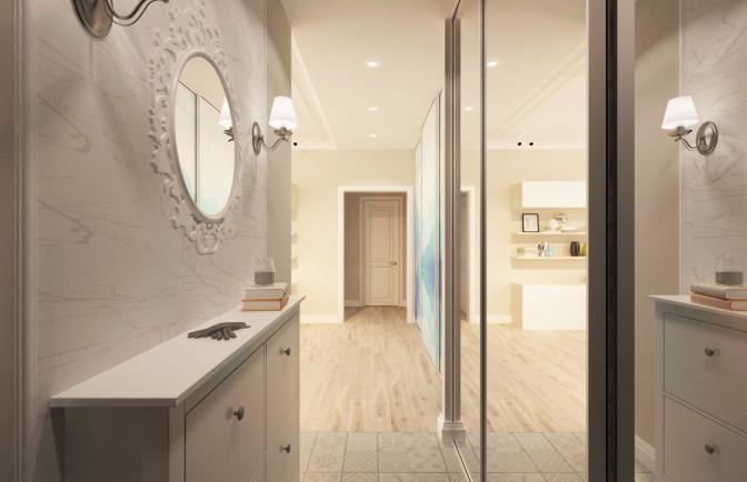 Дизайн проект квартиры в 3 комнаты