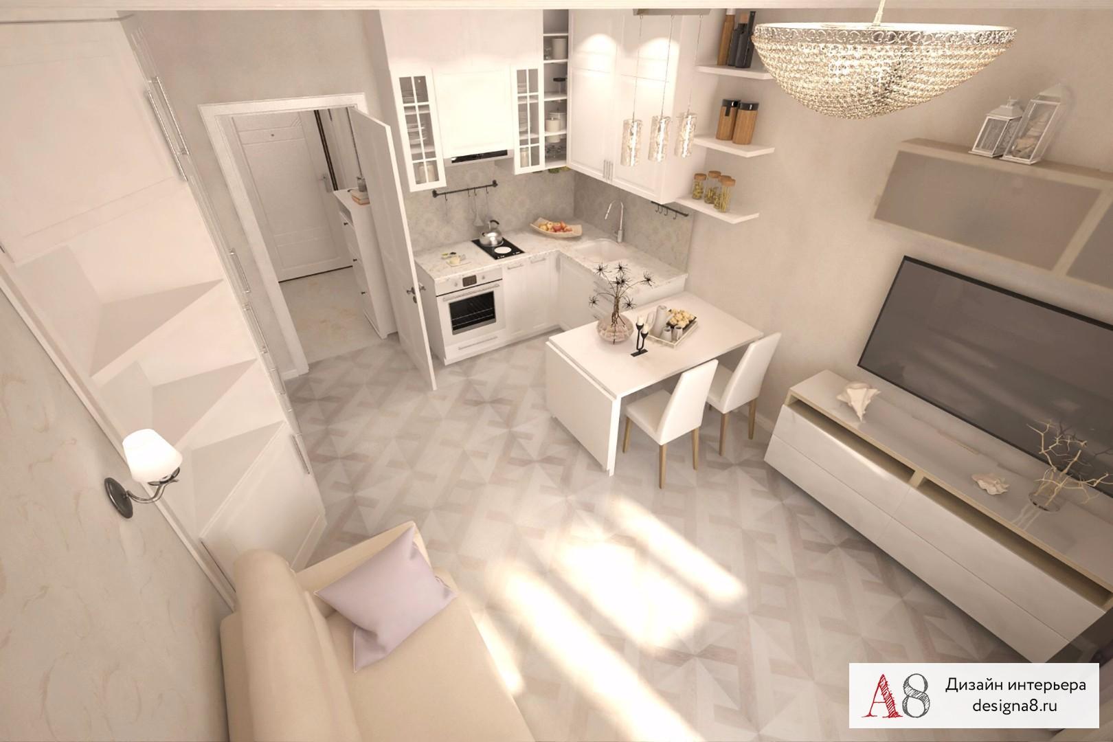кухня-гостиная 27 кв м дизайн фото