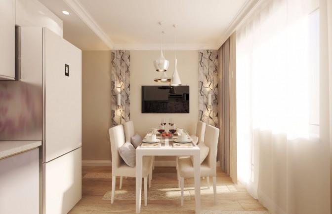 Дизайн проект однокомнатной квартиры 38 кв. м