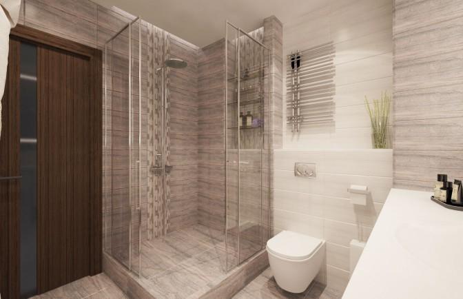 Дизайн проект однокомнатной квартиры 46 кв. м