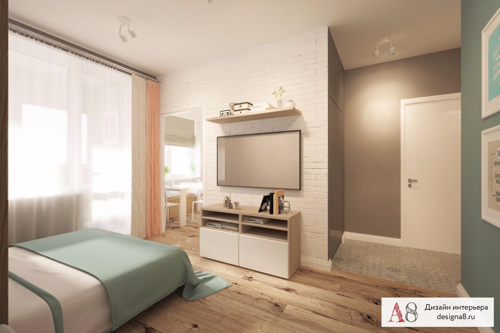 Дизайн 2 комнатной квартиры 43 квм в хрущевке