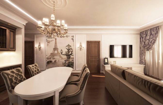 Дизайн проект квартиры 113 кв. м