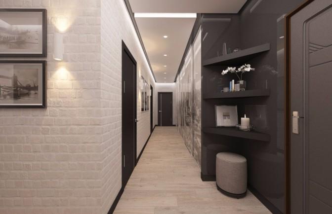Дизайн проект трёхкомнатной квартиры 120 кв. м