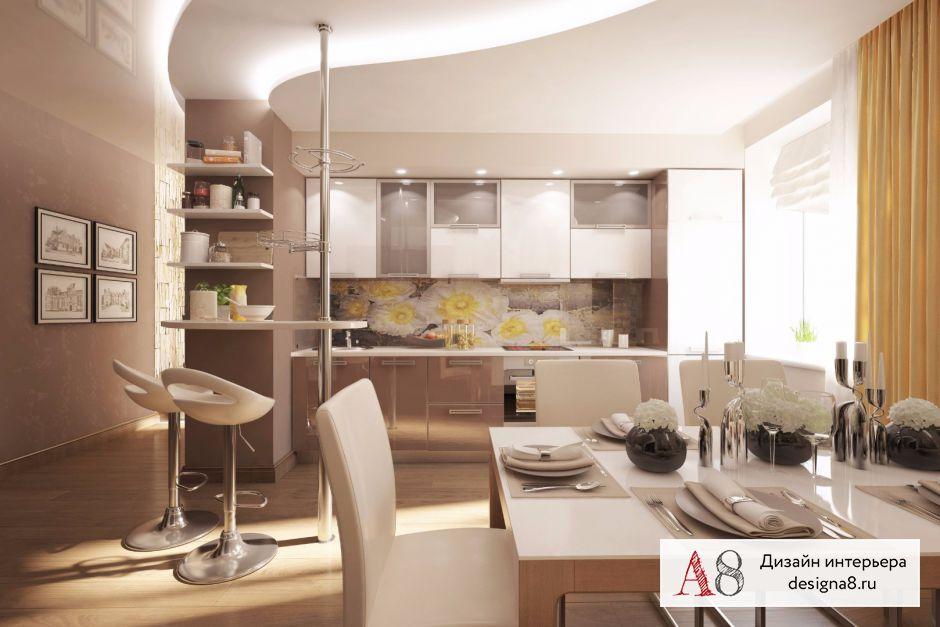 Дизайн-проект кухни с коридором – 01