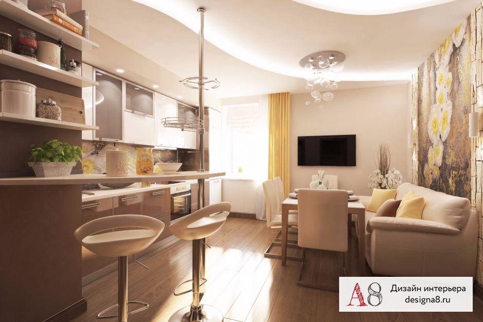 Дизайн-проект кухни с коридором – 02