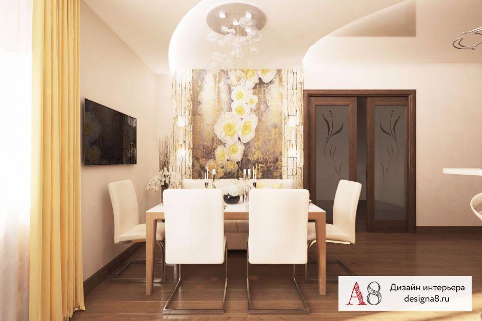Дизайн-проект кухни с коридором – 03