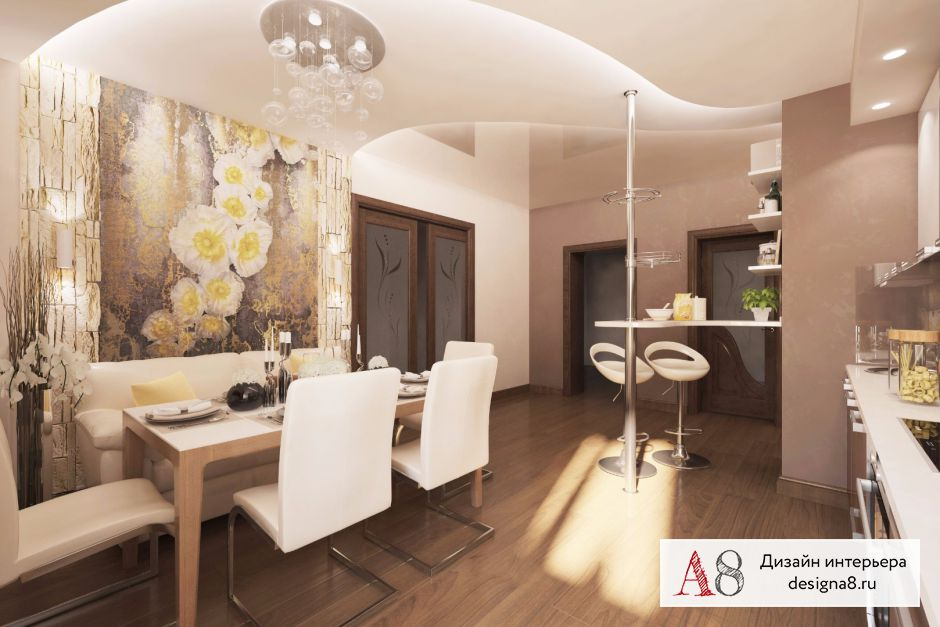 Дизайн-проект кухни с коридором – 04