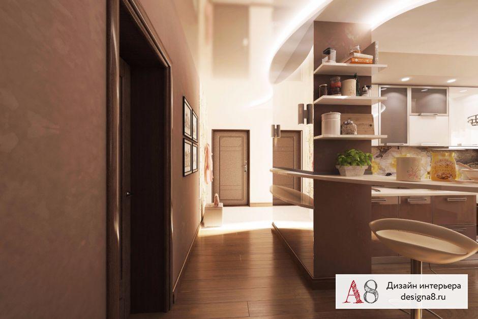 Дизайн-проект кухни с коридором – 05