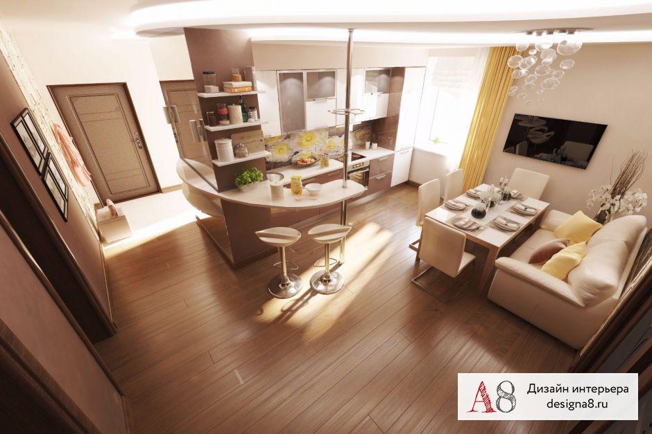 Дизайн-проект кухни с коридором – 06