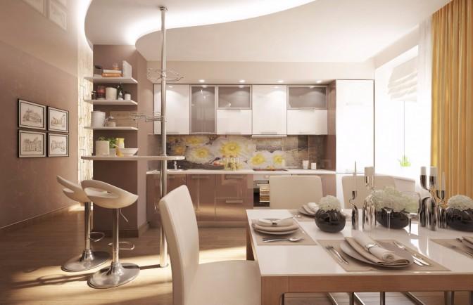 Дизайн проект трёхкомнатной квартиры 78 кв. м