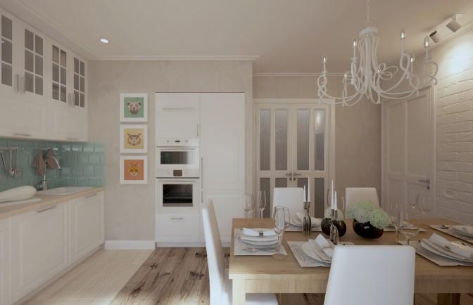 Дизайн проект двухкомнатной квартиры 74 кв. м