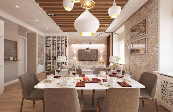 Дизайн проект 3-х комнатной квартиры 120 кв. м