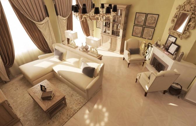 Дизайн проект двухкомнатной квартиры 68 кв. м