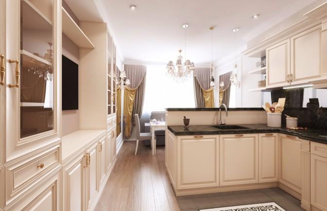 Дизайн проект двухкомнатной квартиры 80 кв. м