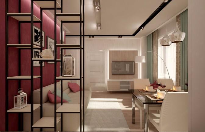 Интерьер двухкомнатной квартиры 67 кв. м
