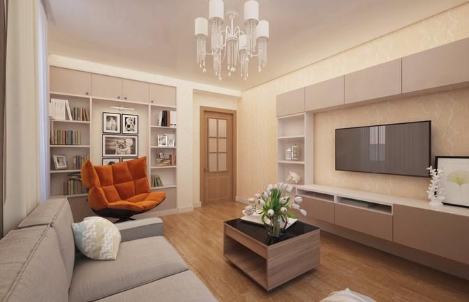 Интерьер трехкомнатной квартиры 99 кв. м