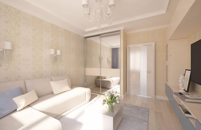 Интерьер двухкомнатной квартиры 73 кв. м
