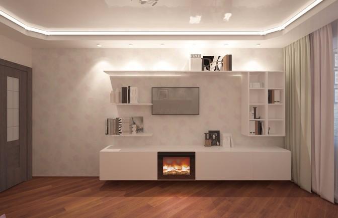 Интерьер двухкомнатной квартиры 75 кв. м