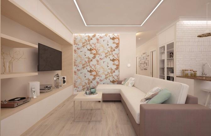 Интерьер двухкомнатной квартиры 62 кв. м