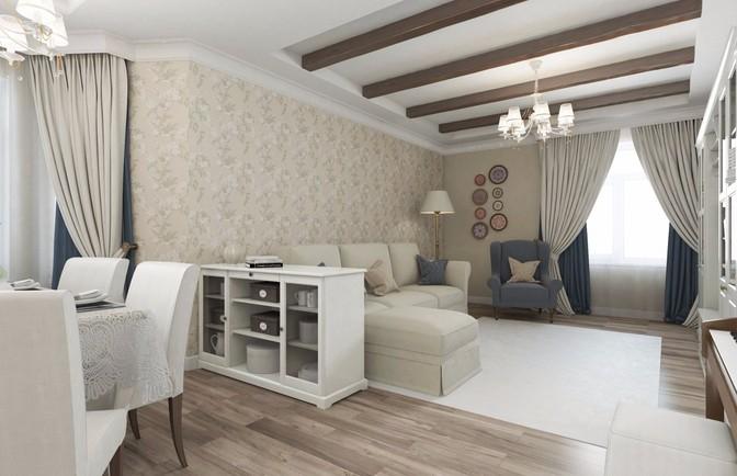 Интерьер четырехкомнатной квартиры 108 кв. м