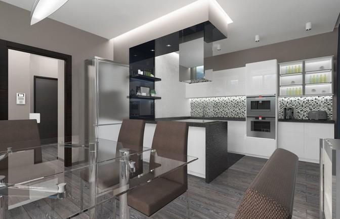 Интерьер двухкомнатной квартиры 86 кв. м