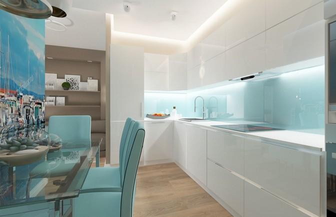 Интерьер двухкомнатной квартиры 69 кв. м