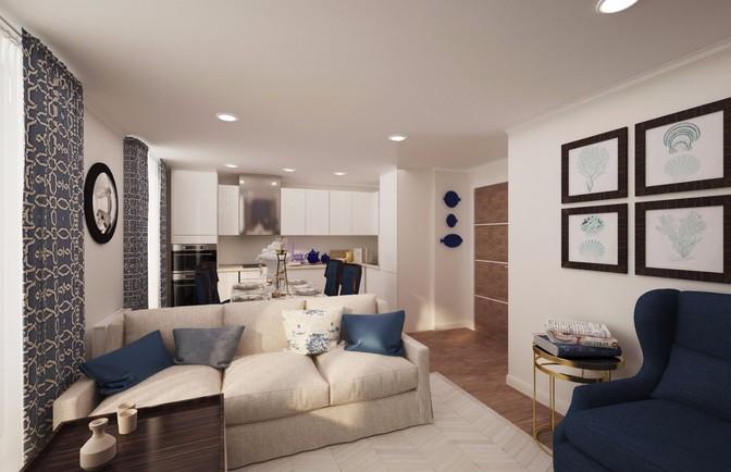 Интерьер двухкомнатной квартиры 66 кв. м
