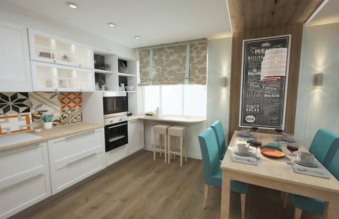 Интерьер четырехкомнатной квартиры 103 кв. м