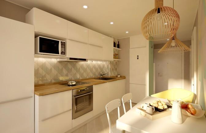 Интерьер однокомнатной квартиры 35 кв. м