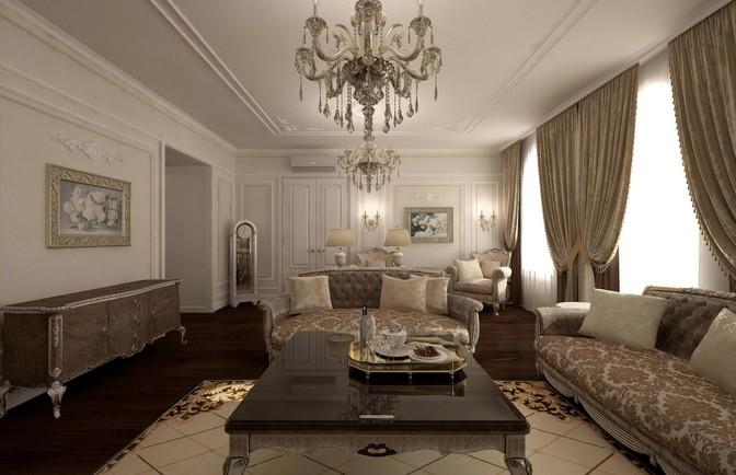 Интерьер двухкомнатной квартиры 113 кв. м