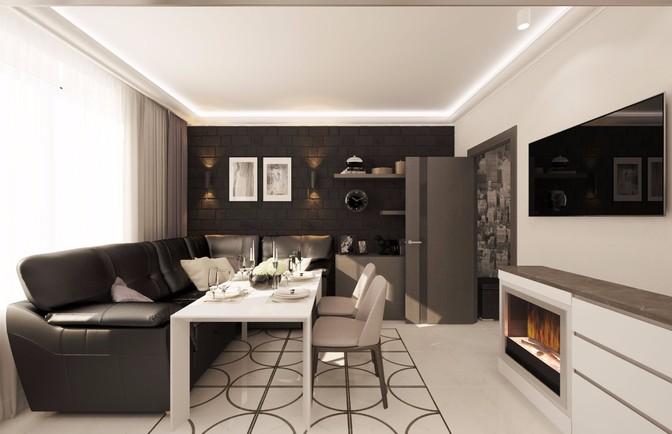 Интерьер двухкомнатной квартиры 71 кв. м