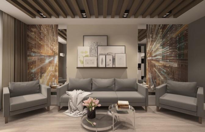 Интерьер трехкомнатной квартиры 115 кв. м