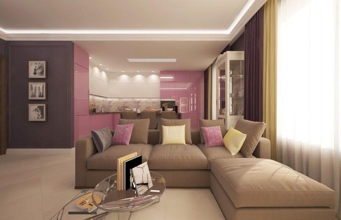 Интерьер четырехкомнатной квартиры 130 кв. м