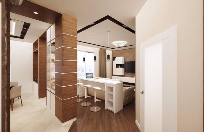 Интерьер трехкомнатной квартиры 145 кв. м