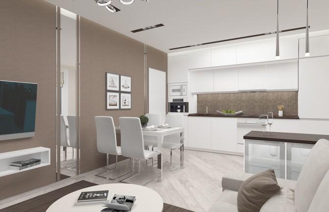 Интерьер трехкомнатной квартиры 75 кв. м