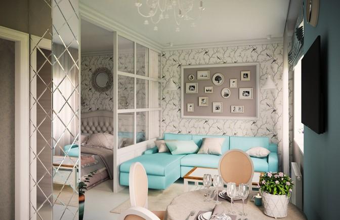 Интерьер однокомнатной квартиры 37 кв. м в панельном доме
