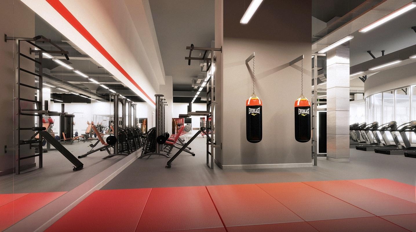 Дизайн в фитнес клубе