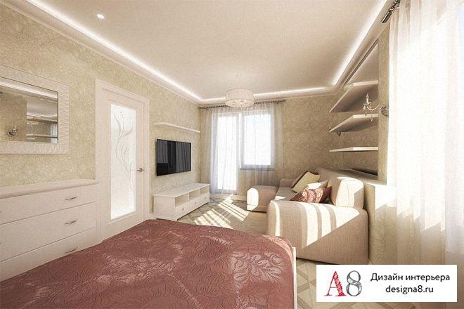дизайн однокомнатной квартиры 40 кв.м фото
