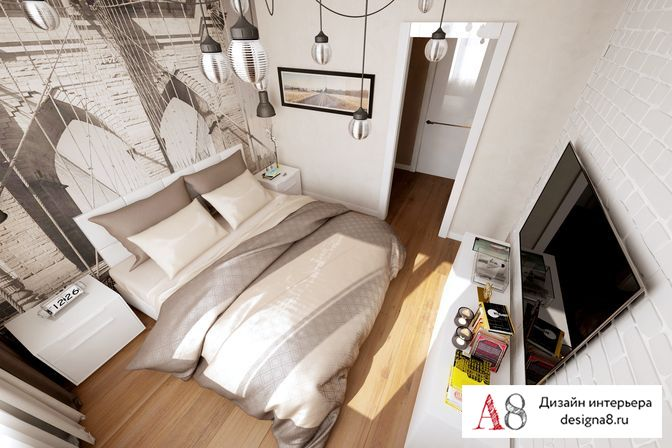 Интерьер дизайна квартиры студии