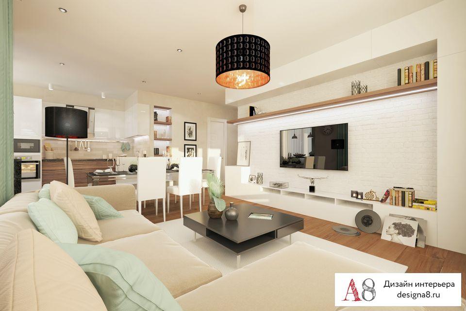 Дизайн двухкомнатной квартиры 70 кв. м