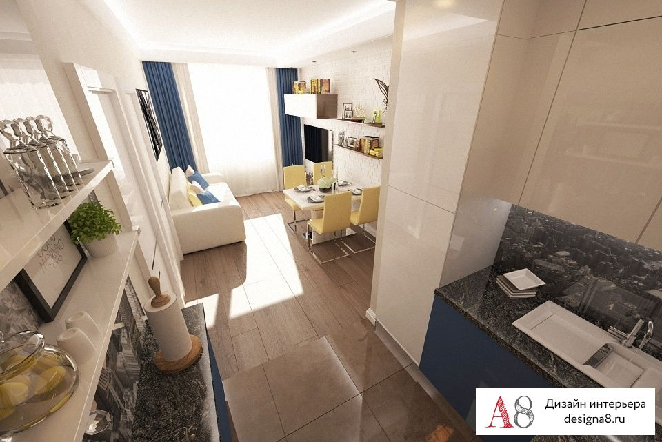Дизайн 3 квартиры 90 кв.м