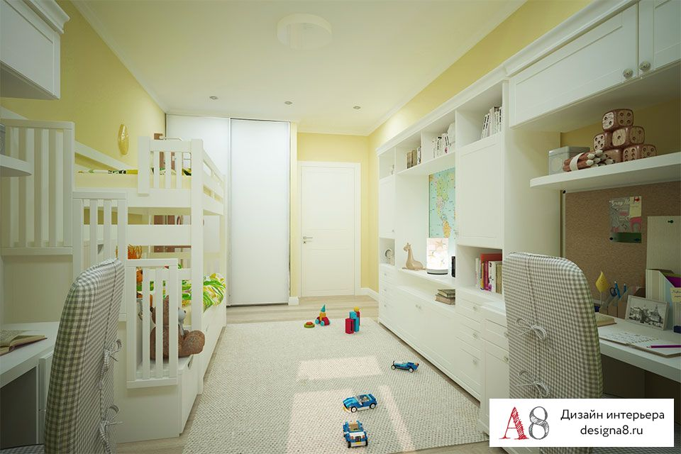 Дизайн проект квартиры 80 кв м