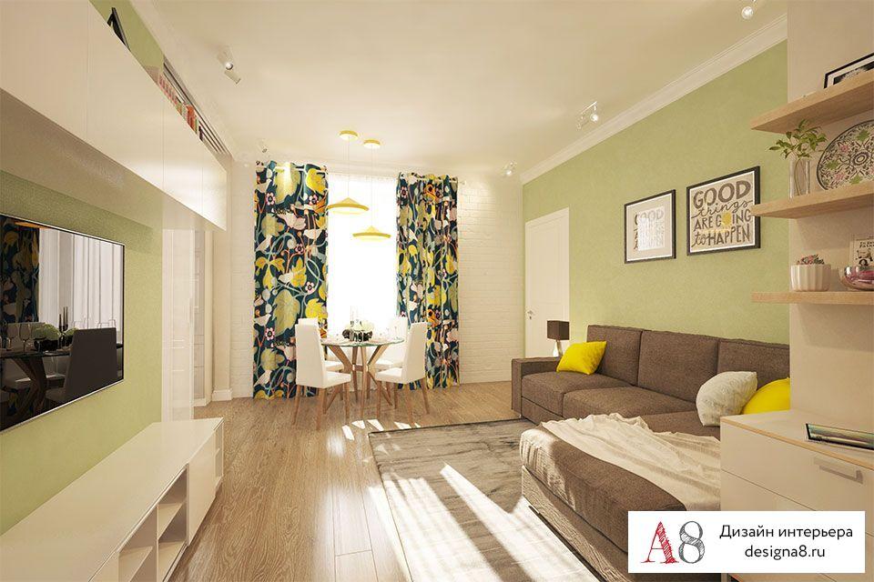 Дизайн проект трехкомнатной квартиры 70 кв.м