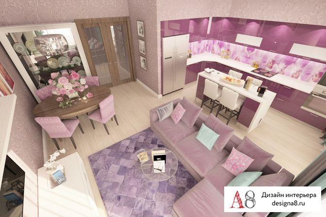 Дизайн квартиры евродвушки
