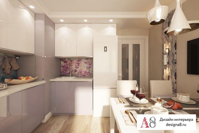 Однокомнатная квартира дизайн 38 кв