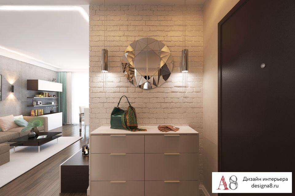 Дизайн интерьера трехкомнатной квартиры 85 кв.м