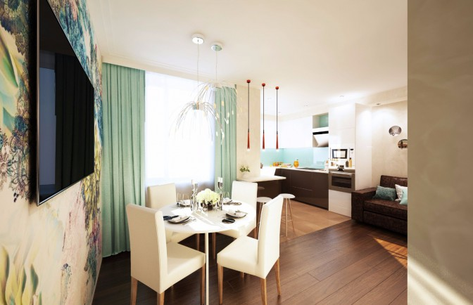 Дизайн проект квартиры 90 кв. м