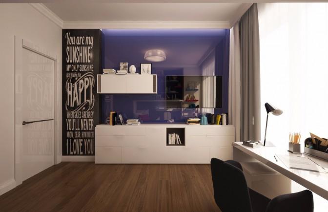 Дизайн проект квартиры 76 кв. м