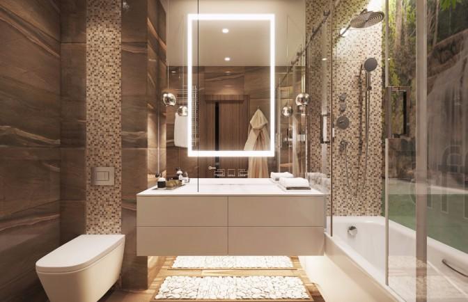 Дизайн проект трёхкомнатной квартиры 95 кв. м