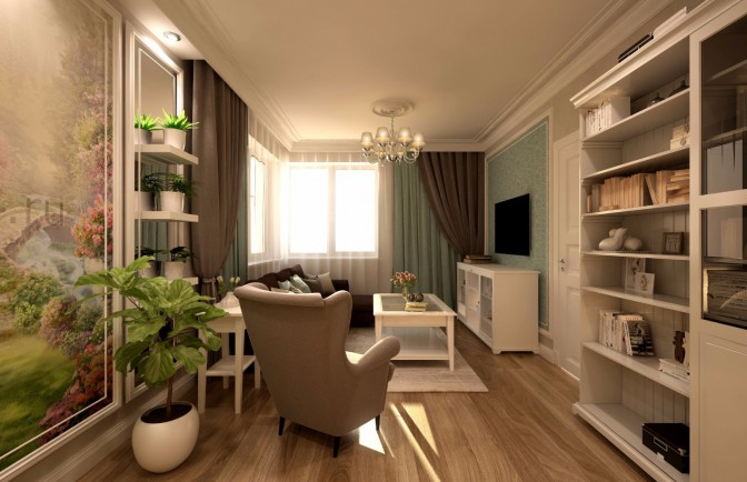 Дизайн проект квартиры 82 кв. м